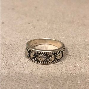 Vintage American Eagle celestial ring, size 6